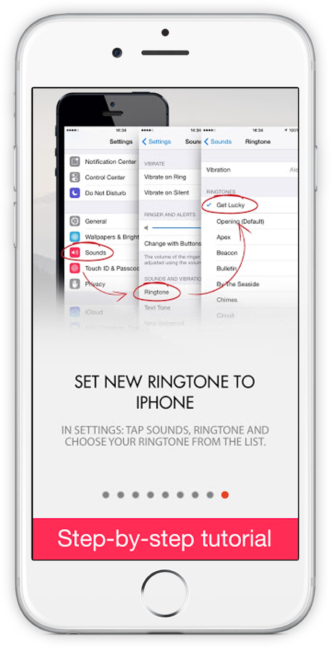 Screenshot of Ringtones Unlimited FREE